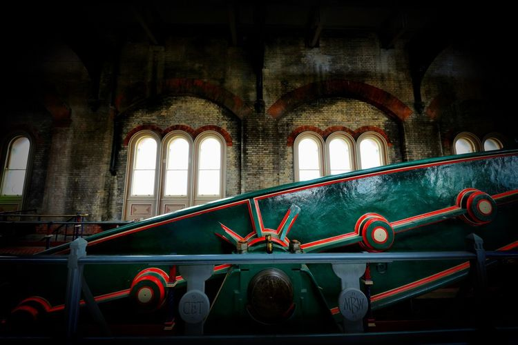 Crossness Pumping Station Architecture Indoors  Built Structure Arch Window No People Transportation