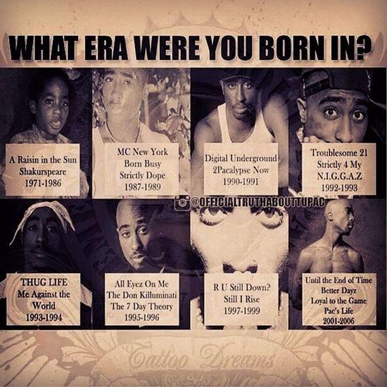 What era were you born in❓❓❓❓❓ I was born in the UntilTheEndOfTime era Tupac WestSideTilIDie Mancrusheveryday ????