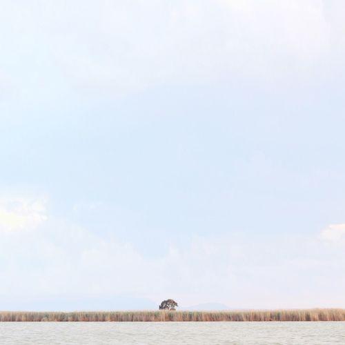 Idyllic shot of river against sky