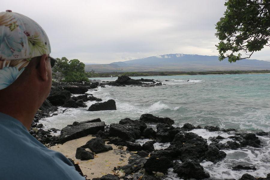 Hawaii Water Sea Beach Men Headshot Swimming Rear View Rock - Object Sky Close-up Rocky Coastline Crashing Shore Wonderlust Coastline Surf Calm Volcanic Rock The Great Outdoors - 2018 EyeEm Awards