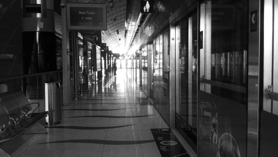 Last Train home. Black & White