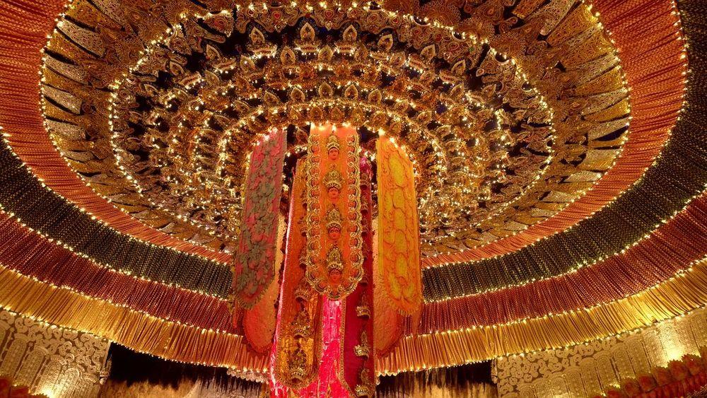 Low Angle View Indoors  Illuminated Lighting Equipment Pattern No People Day Close-up Durga Puja Festival Illumination Decoration Pandal Rethink Things EyeEmNewHere