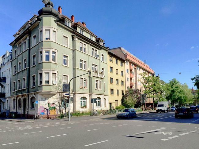 Façade Facades in Freiburg Stühlinger Hausfassaden