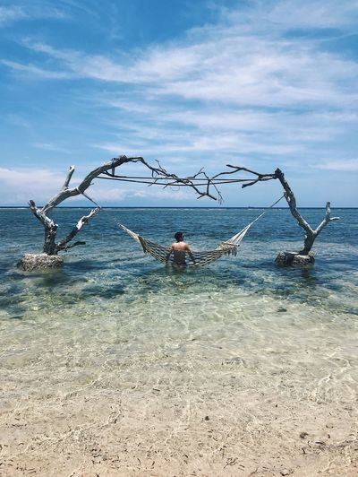 Inside my mind it's like a wind Connected By Travel Lost In The Landscape Beauty In Nature Shirtless Outdoors Nature Cloud - Sky Beach Vacations Adventure Lombok INDONESIA