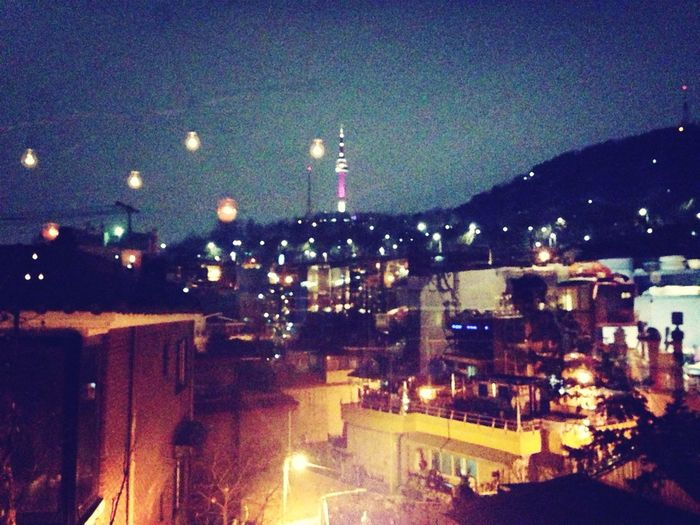 Seoul Tower Itaewon Korea Enjoying The View