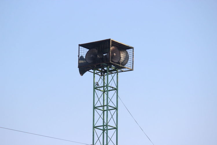 Broadcast tower Blue Broadcast Broadcast Tower Clear Sky Low Angle View No People Outdoors Sky