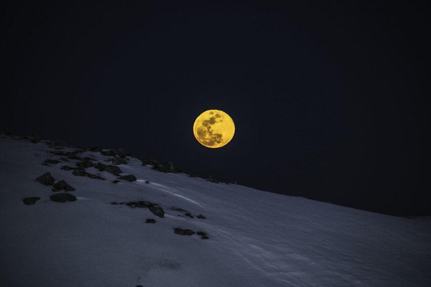 Moon FoolMoon Yellowmoon Moonlight Moon Surface Moon Shots Moon Light Moon_collection Snowmoon Moonshine Moonphotography Moonporn Moonshot Moonsky Moonlightscape Outdoors No People Mountainview Mountaineering Mountainlove Mountainshots