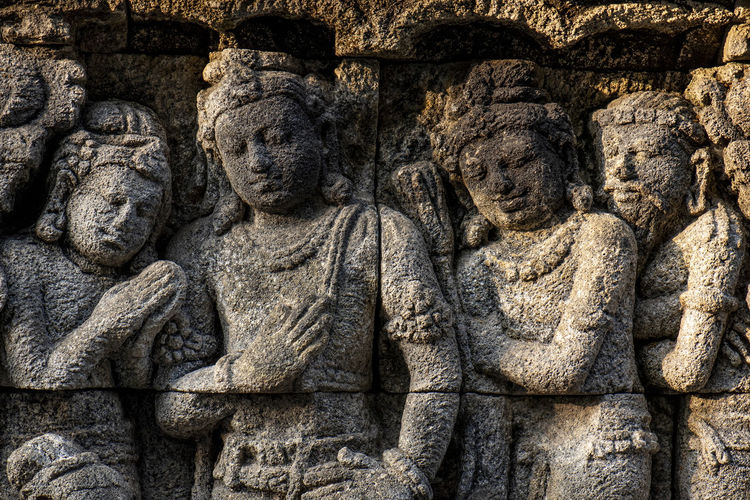 Statues Of Bodobudur - Magelang Central Java Indonesia Ancient Ancient Civilization Archaeology Architecture Art And Craft Belief Craft Creativity History Human Representation No People Old Religion Representation Sculpture Spirituality Statue Stone Material Stone Wall The Past