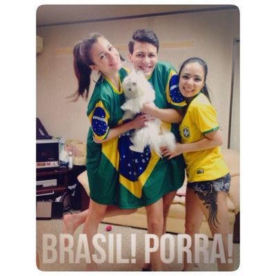 Let's go Brazil Brazil2014WorldCup With Friends Dog
