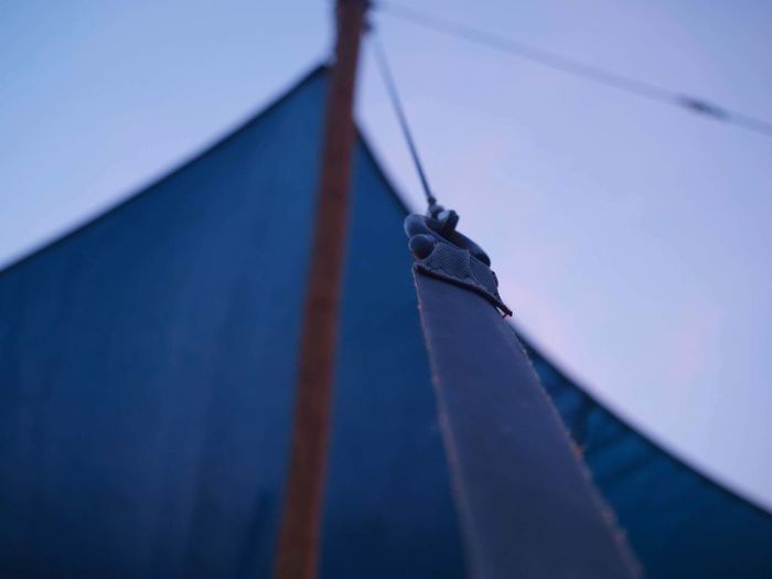 Low Angle View No People Outdoors Day Blue Hanging Sky Close-up Nautical Vessel