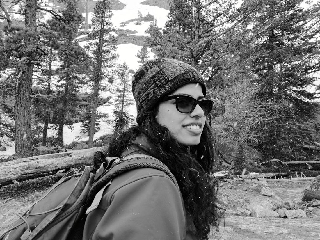 Outdoors Portrait One Person Real People Young Women Happiness Lifestyles Smiling Young Adult Nature Warm Clothing People Adult Sky Alpine Landscape Desolation Wilderness Hiking Sierra Nevada Mountains California Active Lifestyle