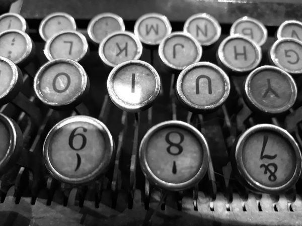 Old-fashioned Typewriter Retro Styled Obsolete Metal Circle Alphabet Antique Communication Indoors  No People Technology Close-up Time Day EyeEm Selects SowetoSouthAfrica Soweto Smartphonephotography Johannesburg Smartphone Photos Writting Words Authors