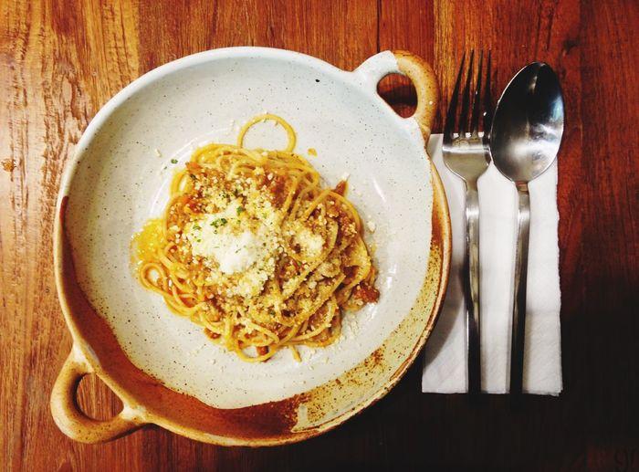 Spaghetti time Spaghetti Greenmade Lunch Cheese Yummy Happy Eat Enjoyment Joyfull Eatting