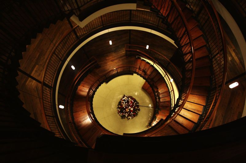 Spiral Architecture Staircase Steps And Staircases Built Structure American Horror Story American Horror Story Asylum New York Roosevelt Island Low Angle View Spiral Staircase Indoors  Steps Illuminated No People