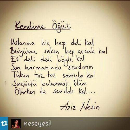 Repost from @neseyesil with @repostapp — Olurken De Sevdalı kal love separation ?? my heart is broken ??? aziz nesin poetry
