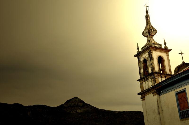 Catas Altas - MG Barroco Built Structure Mountain Mountains Of Brazil Nature Religion Religious Architecture Serra Do Caraça Tower Travel Destinations