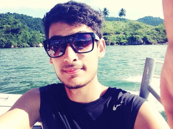 Sea Boat Ride Selfie