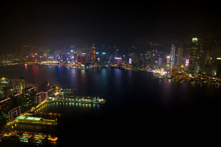 A long exposure of Hong Kong harbour at night, taken from the Sky 100 observation deck of the ICC building. Architecture City City Life Cityscape Dark Dock Harbor Hong Kong Illuminated Light Long Exposure Night Reflection Sea Travel Water Waterfront Welcome To Black Neighborhood Map
