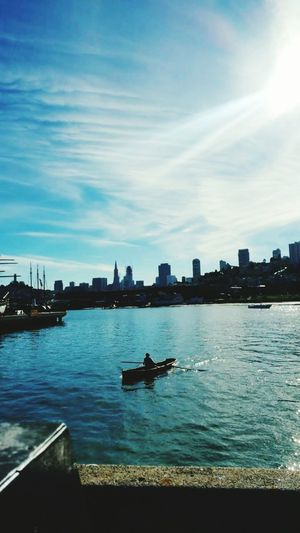 The Week On EyeEm Sunrise Skyscraper Building Exterior Cityscape California SanFranciscoBay Kayak Sailing