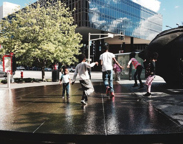 Playing in a spring day Real People Outdoors City St Louis Kids Urbanphotography Urban IPhoneography