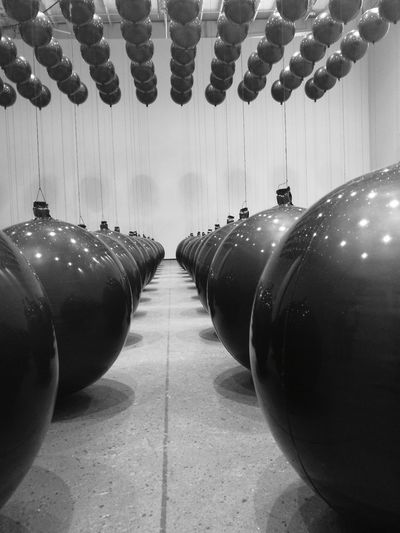 wonderspaces art Blackandwhite Wonderspaces San Diego California Art Museum Art Piece Hanging Balls Worldtravelerbypattxyz Silhouette