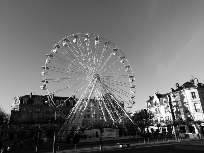 Sky Amusement Park Reims Reims , France Clear Sky No People Big Wheel Ferris Wheel Arts Culture And Entertainment Illuminated Night Outdoors Amusement Park Ride Motion First Eyeem Photo