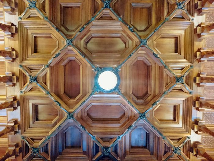 Full frame shot of illuminated ceiling