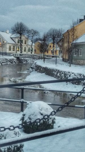 It's Cold Outside Söderköping Tourism Northern Europe Taking Photos Scandinavia Wintertime Sweden Scandia Sverige Winter Snow Snow ❄ Cold Snow Covered Houses