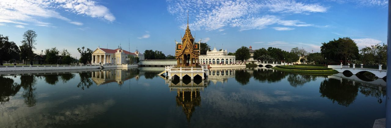Reflection of bang pa-in royal palace in river