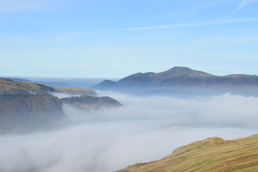 EyeEm Selects Up In The Clouds Mountain Cloud - Sky Landscape Nature Beauty In Nature Fog Outdoors Freshness No People Blue Sky Lake District Hiking Climbing A Mountain Enjoying Life Beauty In Nature Enjoying Nature