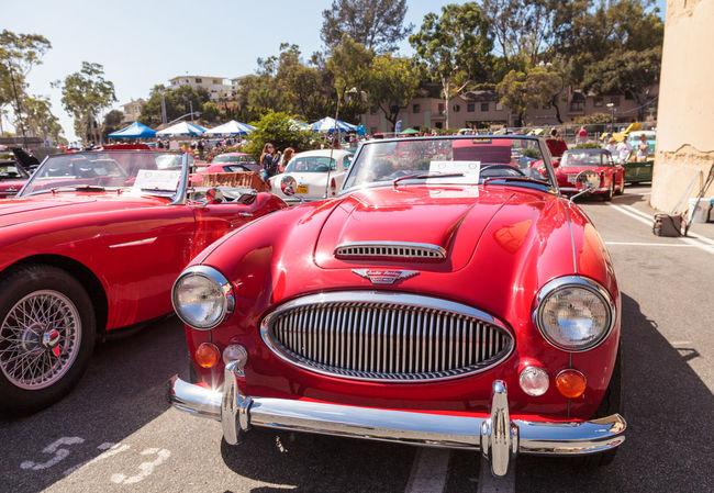Laguna Beach, CA, USA - October 2, 2016: Red 1967 Austin Healey 3000 owned by Jay Miller and displayed at the Rotary Club of Laguna Beach 2016 Classic Car Show. Editorial use. 1967 Austin Healey Austin Healey 3000 Car Car Show Classic Car Classic Car Show Day Laguna Beach Old Car Old-fashioned Red Sports Car Sports Car Sports Cars Vintage Car