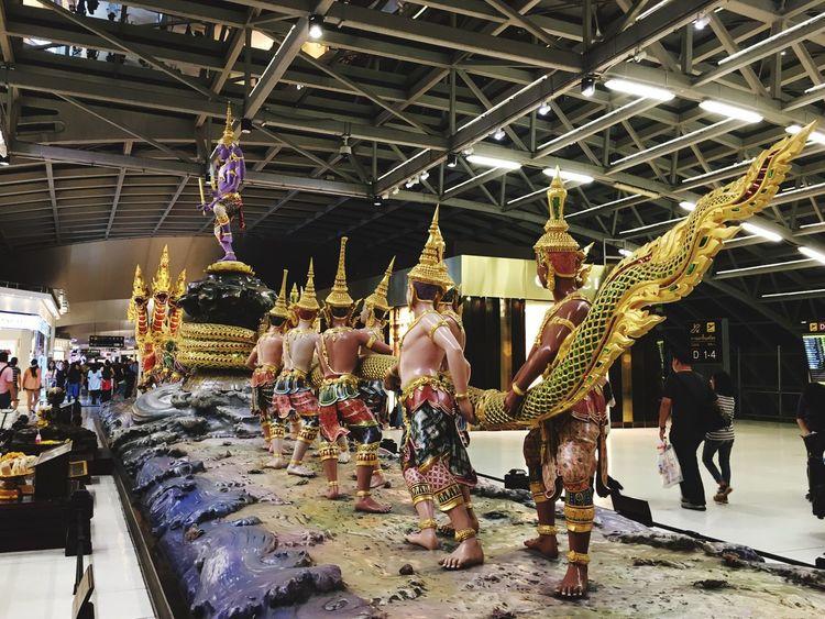 Suvarnabhumi Airport (bkk) ท่าอากาศยานสุวรรณภูมิ The Biggest Airport In Thailand.