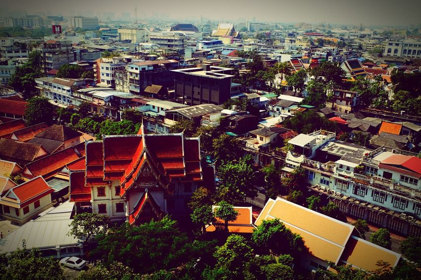 EyeEm Selects Architecture Building Exterior High Angle View Built Structure Cityscape Outdoors Skyscraper Tree City Day Outdoor Photography Travel Destinations Buddha Temple, Thailand Buddha Temple Travel Religion EyeEmNewHere