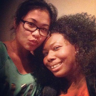 Me and @thekeyishappiness_ I love this beautiful woman!! Interraciallove MyMain Nomakeup Westillcutetho