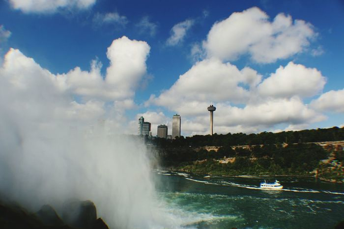 Social Issues Water Environment No People Outdoors Tree Air Pollution Nature Power In Nature Thunderstorm Day Niagrafalls Beauty In Nature Sky And Clouds Falls Waterfall Niagara Falls NY