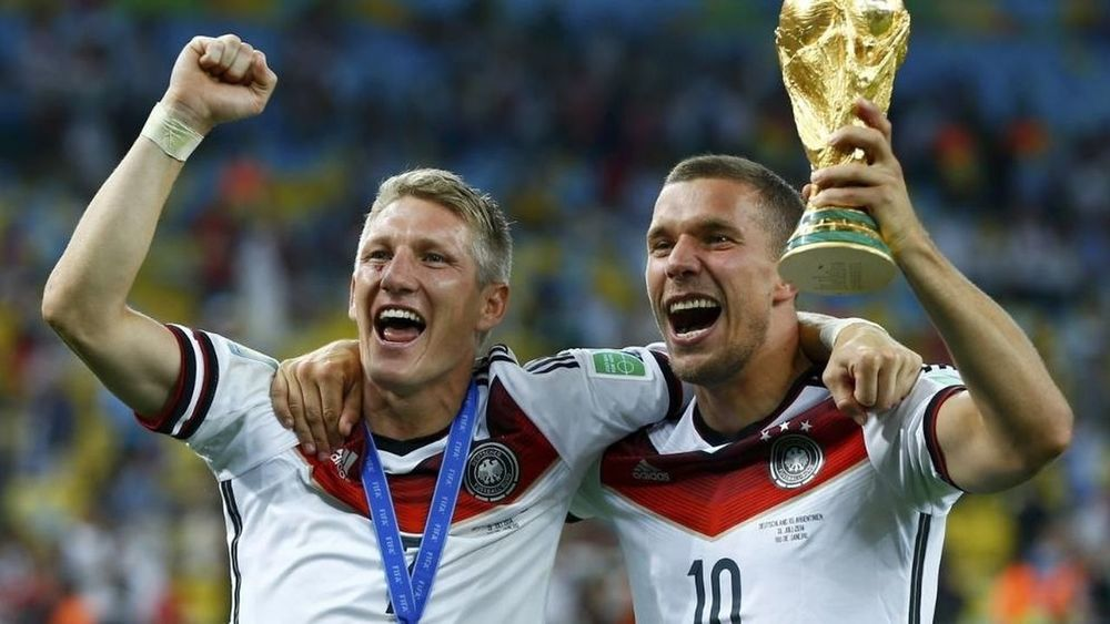 Soccer Fußball WM 2014 Schweinsteiger+Podolski ❤️:D