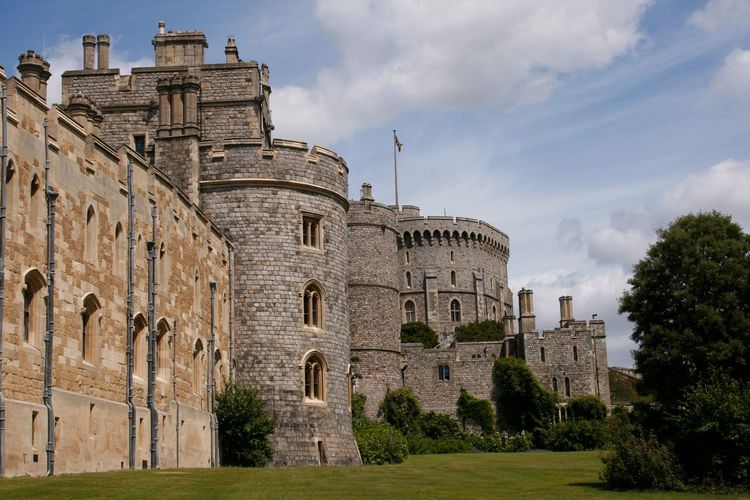 The beauty of historical workmanship of Windsor Castle England UK Ancient Ancient Civilization Architecture Building Exterior Built Structure Castle Day Defence England, UK Fortification Historical Building History No People Old Ruin Outdoors Queens Residence Sky Tourism Tourist Attraction  Tourist Destination Travel Destinations Tree Windsor Castle