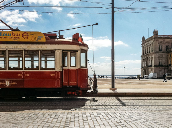Architecture Building Exterior Built Structure Cable Cable Car City City Life City Street Cloud Cloud - Sky Cloudy Day Mode Of Transport No People Outdoors Power Line  Public Transportation Rail Transportation Railroad Station Railroad Track Sky Train - Vehicle Tram Tramway Travel Destinations