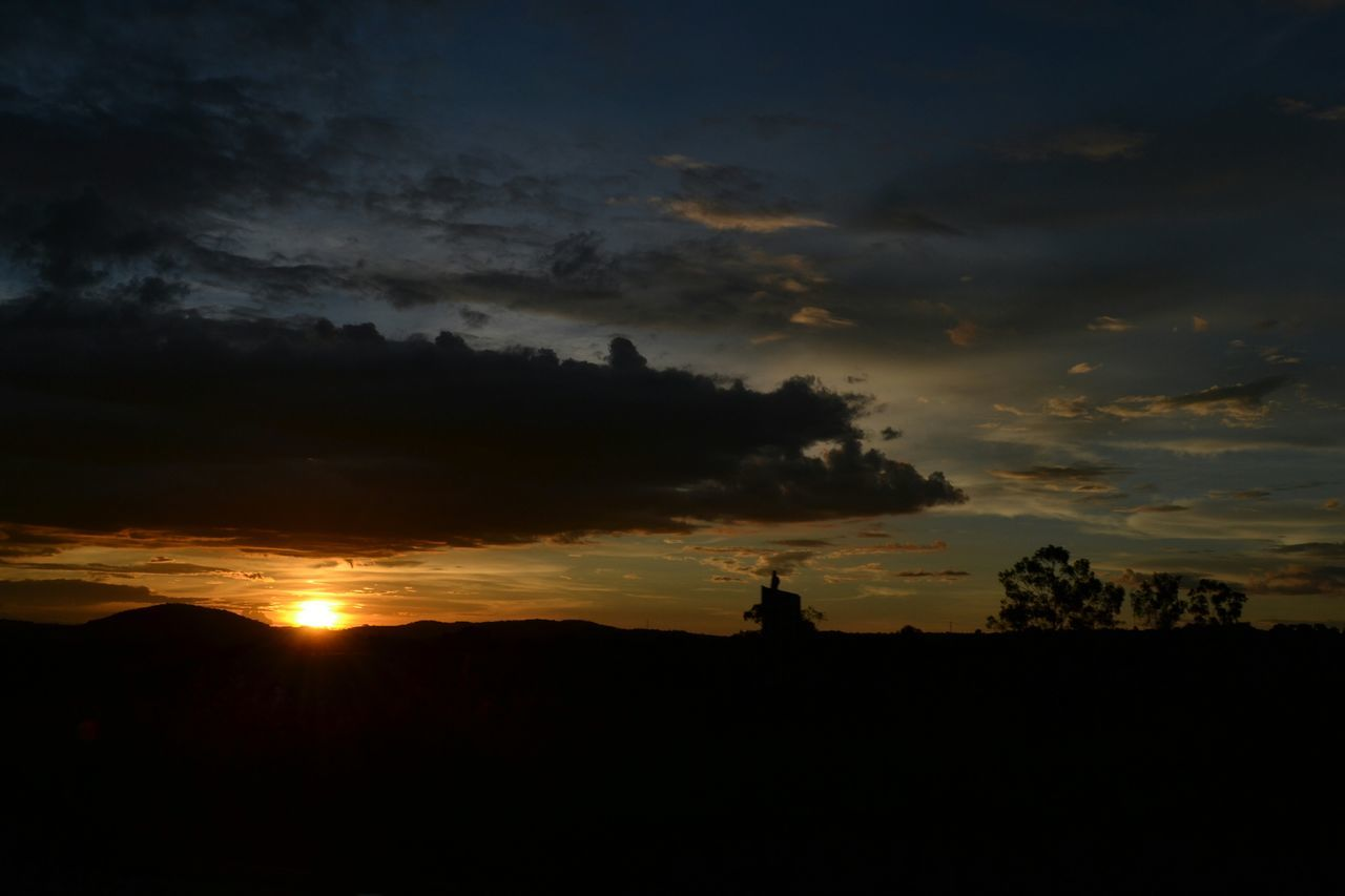sunset, silhouette, sky, cloud - sky, beauty in nature, tranquility, no people, nature, scenics, architecture, outdoors