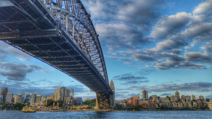 Victoria bridge in Sydney Australia Architecture Cloud - Sky Bridge - Man Made Structure Travel Destinations Cityscape Built Structure Urban Skyline Business Finance And Industry Downtown District Building Exterior Victoria Bridge Sydney, Australia