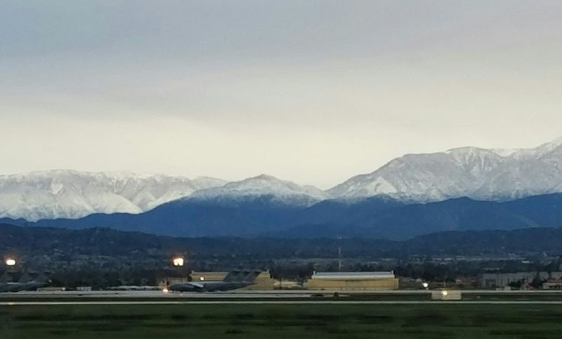 Early Morning Morning Commute No People March Air Base Snowcapped Mountain Military Airplane