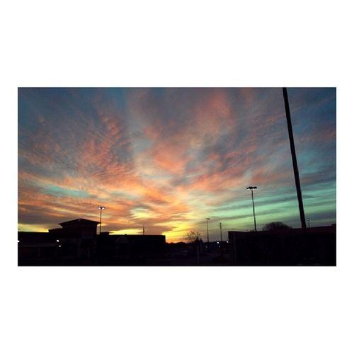 Beautiful sunset today! ◇ ◇ ◇ ◇ Sunset Beautiful Rainbowsunset Colors sky beautifulsunset pink orange blue yellow green turquoise silhouette