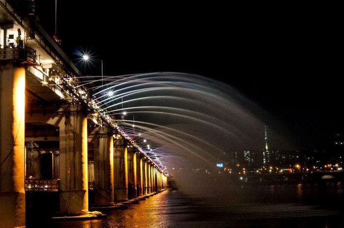 Banpo Bridge Han River Night View