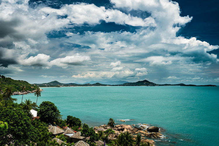 Incoming Thunderstorm Lumix Mft Kohsamui Thailand Travel Travel Photography Cloud - Sky Reisefotografie Reisen Ocean Tree Mountain Cityscape City Horizon Over Water