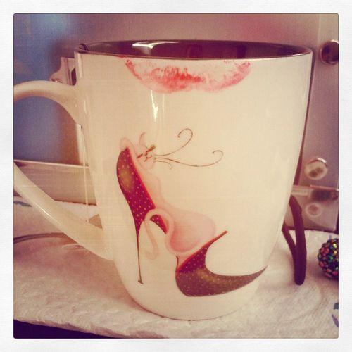 Tasse Cup Lipstickmark Abdruck Lippenstift Redlips Lipstick