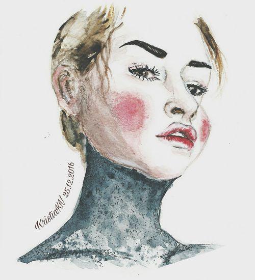 Art, Drawing, Creativity First Eyeem Photo Face Art арт  портрет рисунок девушка One Person арт  рисунок акварелью