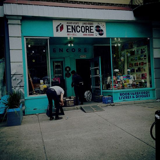 Building Exterior Outdoors Men Retail  Architecture Text Women Built Structure Real People City Day One Person Adults Only Adult People Vinyl Vinyl Records Vinylcollector Records Record Store Cratedigging Crates Recordstoreday EyeEmNewHere Encore EyeEmNewHere