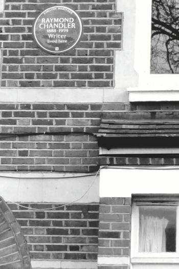 Blue Plaque Writer Raymond Chandler House Anerley