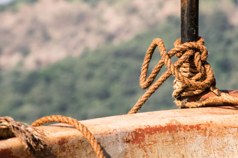 Rope Coconut Rope Rope Tied Thick Strength Tied Up Rusty Water Sea Rope Tied Knot Close-up Durability Twisted Intertwined Fastening Moored Tangled Boat Buoy Nautical Vessel Braided