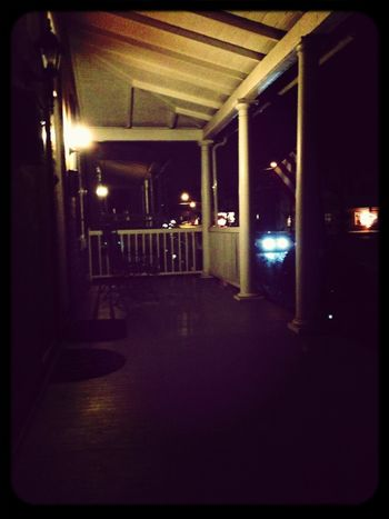 Porch shot. Can't move Night Lights